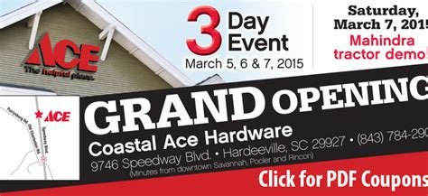 ace hardware grand metropolitan ace hardware grand opening hardeeville