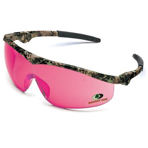 crews mossy oak safety glasses camo frame pink