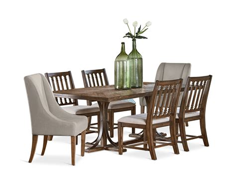 revival dining table trestle dining table with 4 revival side chairs and 2
