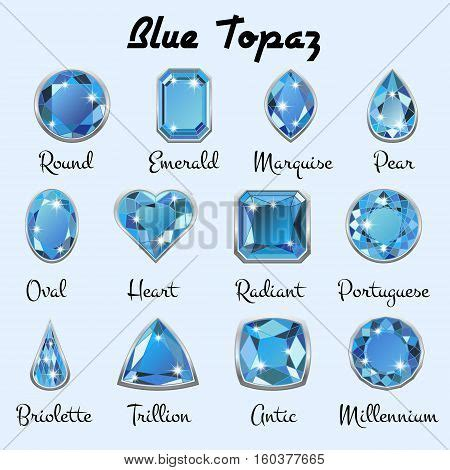 types of blue color set different types cuts precious vector photo bigstock