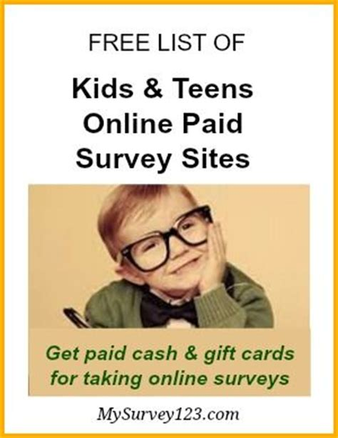 Surveys For Kids To Make Money - paid online surveys for teens kids to earn money paid survey sites survey sites