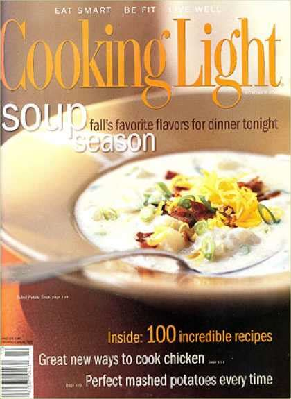 cooking light potato soup cooking light covers 100 149