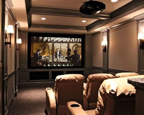 home theater room decor movie theater wall sconces color palette theater with