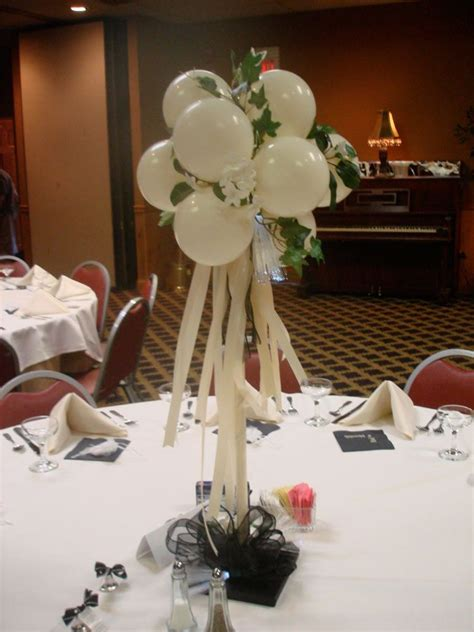 elegant balloon centerpiece wedding ideas pinterest