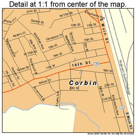 kentucky map corbin corbin kentucky map 2117362
