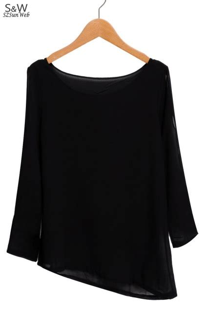 Korean Style Open Shoulder Blouse Estrella new korean womens fashion cut out open shoulder