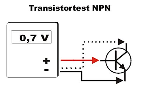 npn transistor testing using multimeter elektrinik tipp messen mir dem multimeter