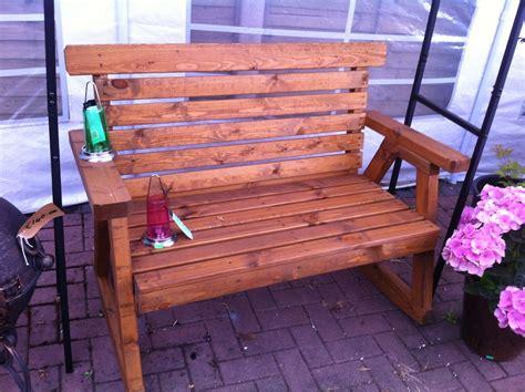 rocking garden bench rocking bench at beechmount garden centre