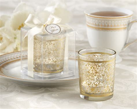 wedding supplies gold glass tealight holder wedding favor