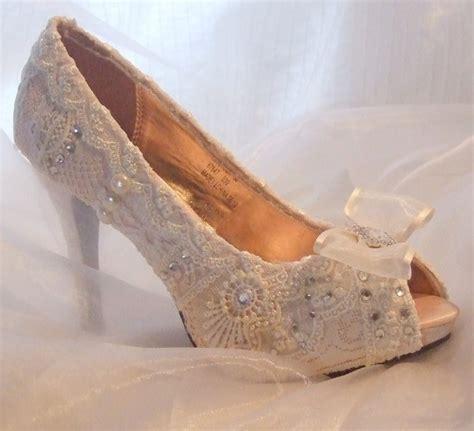 vintage lace wedding shoes boda