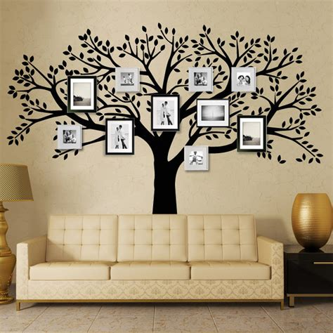 living room decals mctum brand family tree wall decals vinyl wall decal photo frame tree stickers living room home