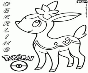 pokemon coloring pages deerling deerling pok 233 mon coloring page printable game