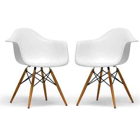 retro classic white accent chairs set of 2 - Set Of 2 Accent Chairs