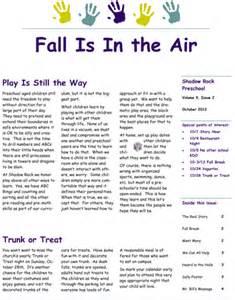 october preschool newsletter template pin preschool newsletter templates free on