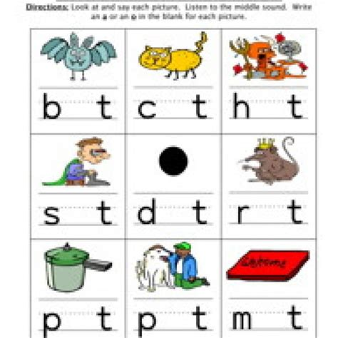 Middle Sound Worksheets by Middle Sound Worksheets Worksheets Releaseboard Free