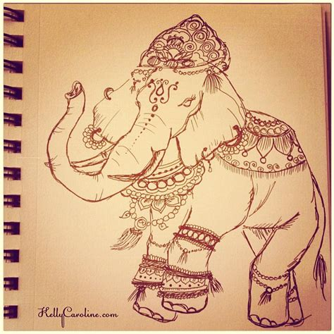 tattoo paper online india painted indian elephant drawing