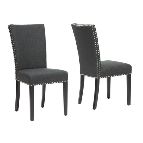 Baxton Studio Dining Chairs Baxton Studio Harrowgate Gray Fabric Upholstered Dining Chairs Set Of 2 2pc 4315 Hd The Home