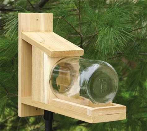 cedar glass jar squirrel feeder unique birdhouse boutique