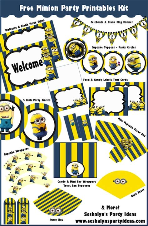 how to create printable party decorations decoraci 243 n para fiesta de minions