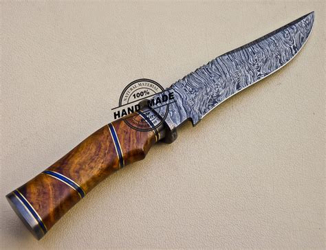 Handmade Bowie - new style damascus bowie knife custom handmade damascus steel