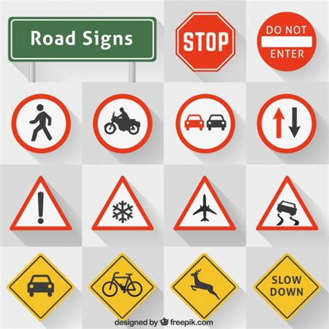 printable european road signs colecci 243 n se 241 ales de tr 225 fico descargar vectores gratis