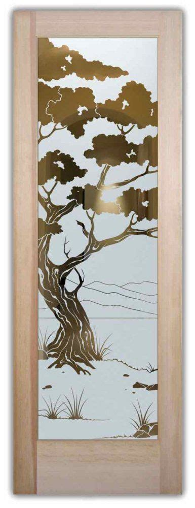 Glass Front Doors Etching Glass Wooden Decor Asian Design Glass Door Etching Designs