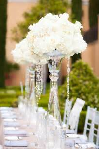 Tall Vases For Centerpieces Centerpiece Roundup Crystal Bead Strands Add Sparkle To
