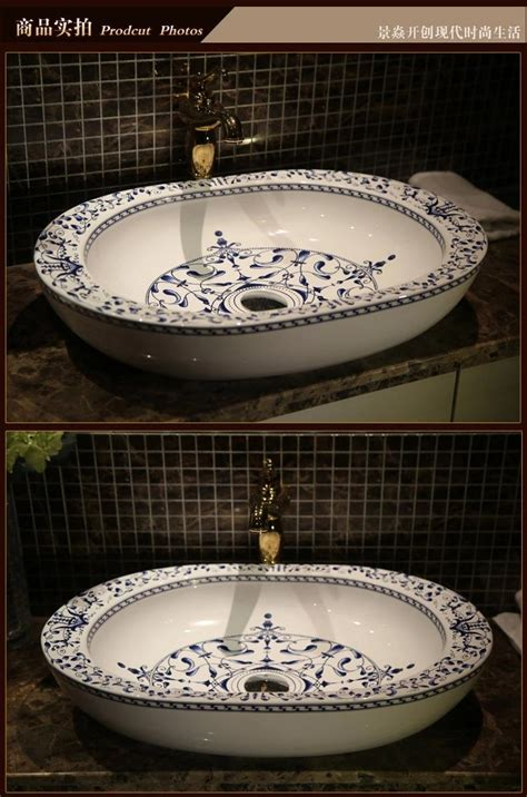 europe vintage style ceramic art basin sinks counter top