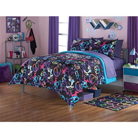 peace bedding your zone peace splatter bedding comforter set walmart