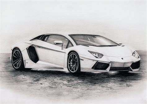 Drawings Of Lamborghinis Lamborghini Aventador Drawing By Bajanoski On Deviantart