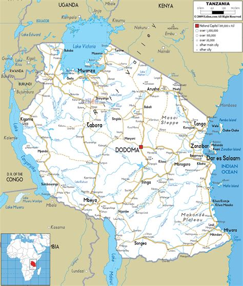 map of tanzania impressum