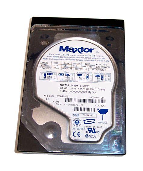 Hardisk Ata 20gb maxtor 2b020h1 fireball 541dx 20gb 5400rpm 2mb 3 5 quot ata 133 disk drive ebay