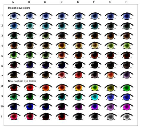 what color are my chart eye color chart by myoijin on deviantart