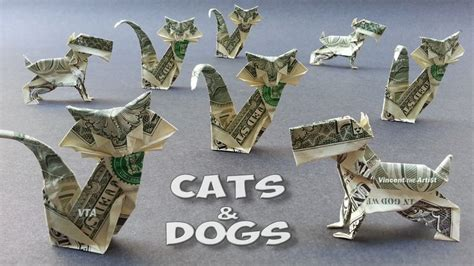 Dollar Bill Origami Cat - 1000 images about origami from money on