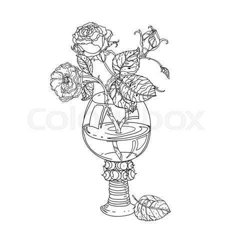 color therapy an anti stress coloring book preview still roses in vintage glass masters style