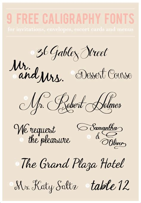 Free Wedding Handwriting Font by 9 Free Caligraphy Fonts Williford