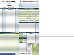 auto repair invoice for a garage with tax bills of sale