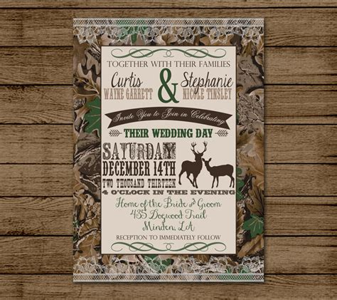 camo wedding invitations to make customized wedding invitation camo deer camouflage couples