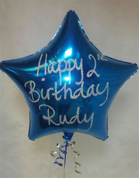 personalised plain foil balloons at london helium balloons