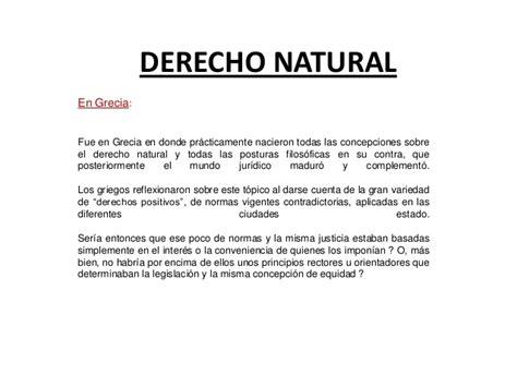 derecho natural derecho natural