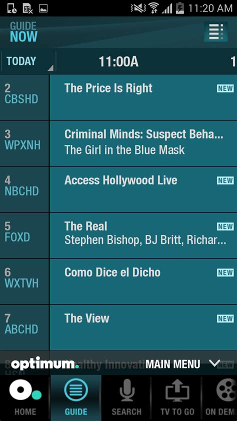 optimum tv to go app for android optimum app for android or kindle channel guide