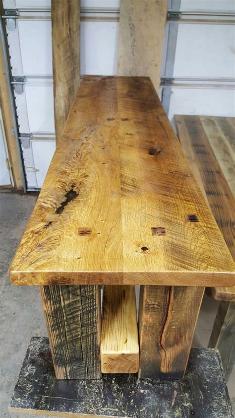 wyoming wood  works rustic bench  table set cool