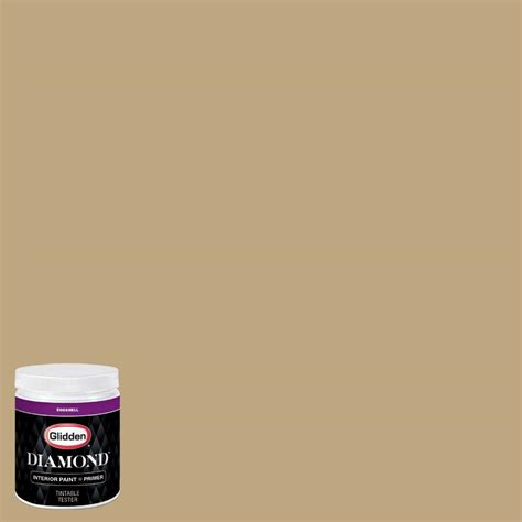 glidden 8 oz hdgy25 summerwood gold eggshell interior paint with primer tester hdgy25d