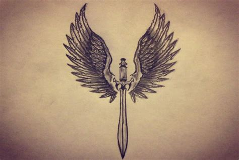 magic sword wings pictures to pin on pinterest tattooskid