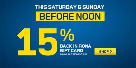 Rona Gift Card - august 2013 canada deals blog canada deals blog