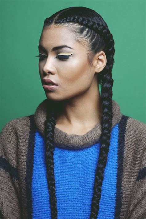 2 Braids Hairstyles by 2 Cornrows Braids Coolest Cornrow