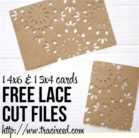 free card templates for silhouette cameo free silhouette cut friday lace cards reed designs