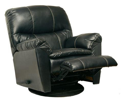 Black Recliner Chairs by Catnapper Cosmo Quot Bonded Quot Leather Swivel Glider Recliner