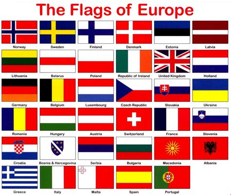 european colors countries europe flags printable search