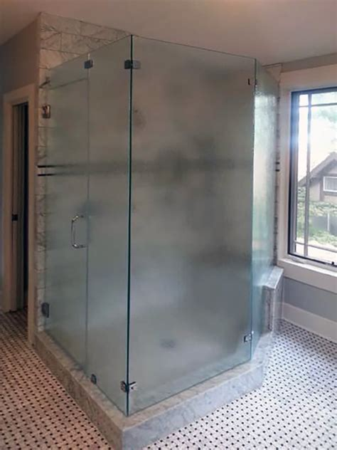 Opaque Shower Doors Custom Etching Shower Doors Of
